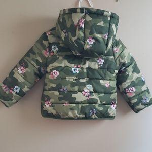 NWOT Carter's Toddler 2T Pink Camo Puffer Coat